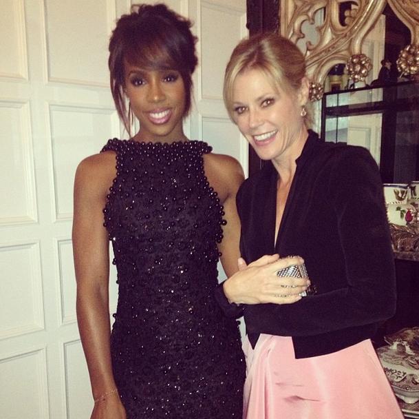 Kelly by die gala-ete saam met Julie Bowen van 'Modern Family'-faam FOTO: Instagram