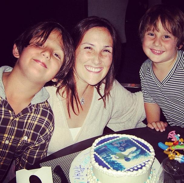 Ricki en haar seuns, Milo en Owen FOTO: Instagram  @rickilake