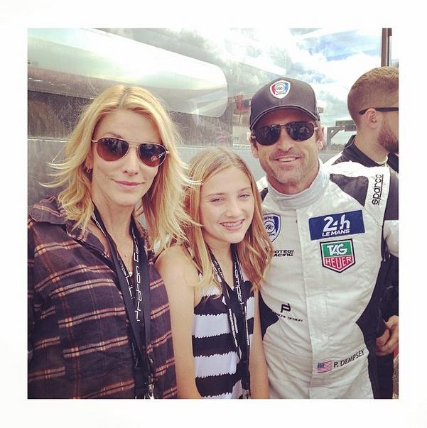 Jillian, Patrick en hul dogter Tallulah FOTO: Instagram  @jilliandempsey