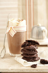 Warm sjokolade en sjokolade koekies