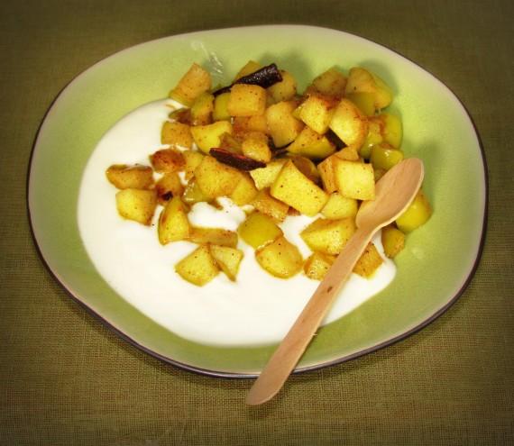 Kaneel-appels en jogurt