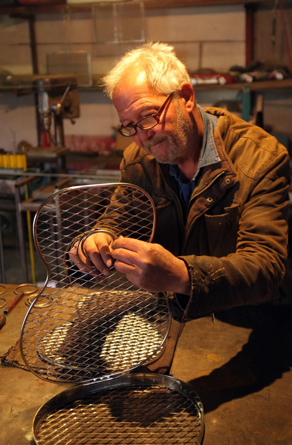 Bert Lintvelt working in his garage