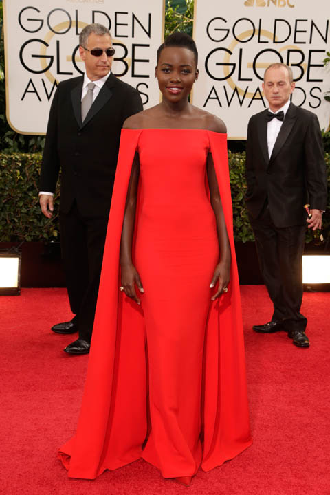 Lupita Nyong'o by die Golden Globe-toekennings in 2015 FOTO: Gallo Images / Getty Images