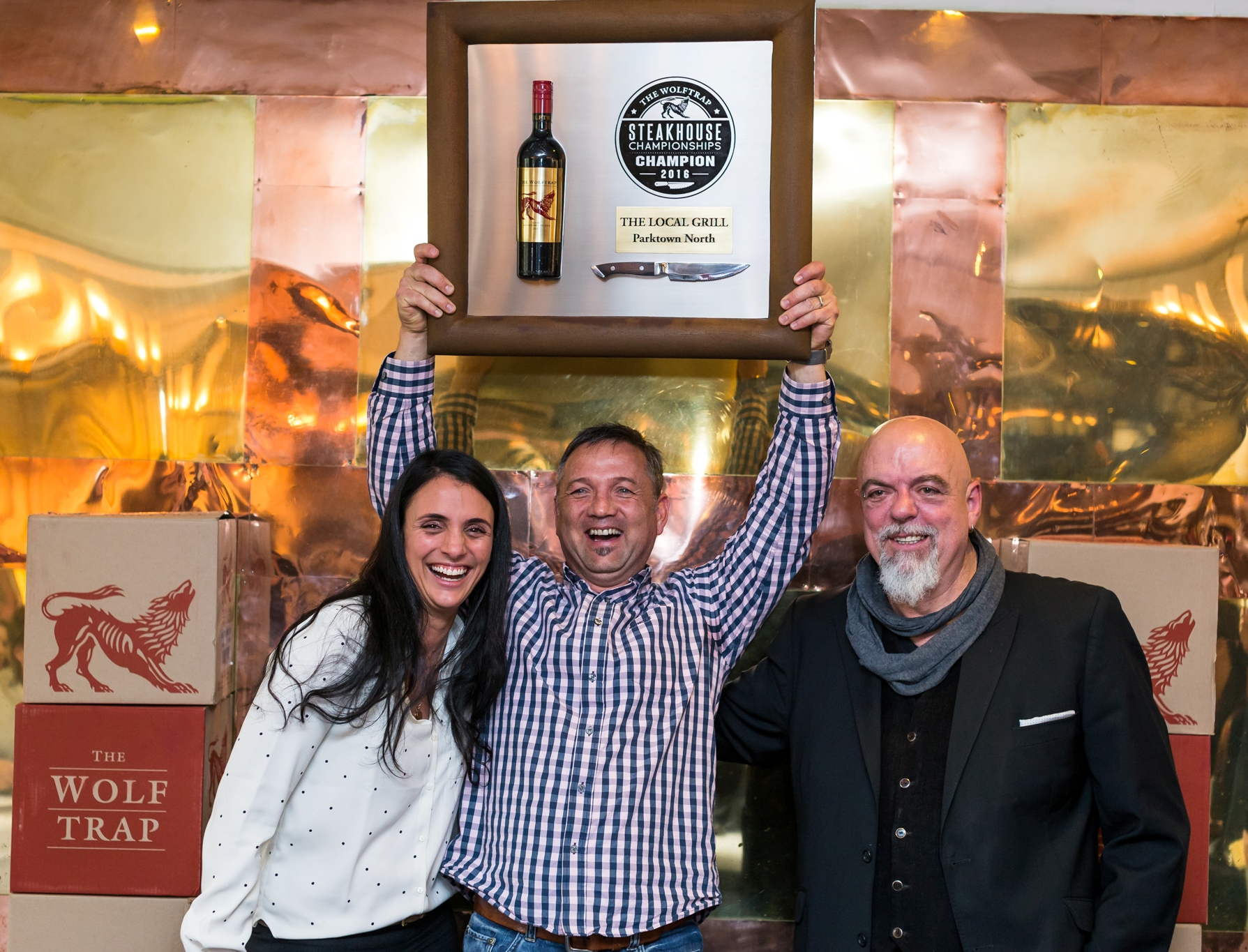 3) 2016 Champion The Local Grill Parktown North L to R Inge Hoffmann, Steve Maresch, Pete Goffe-Wood