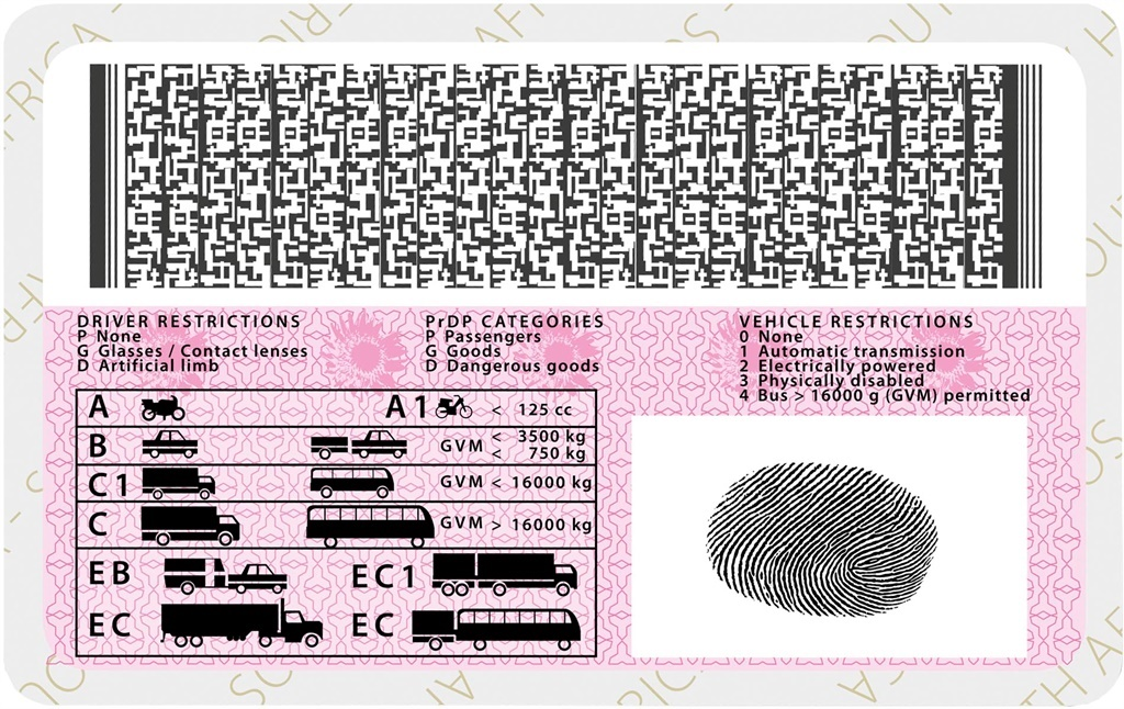 south african drivers license codes
