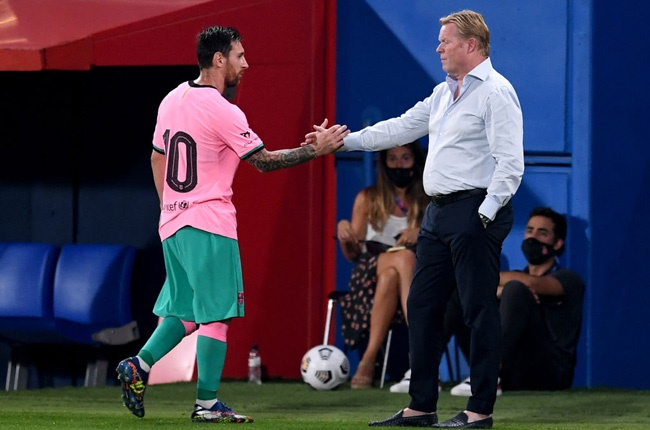 Lionel Messi and Ronald Koeman (Getty Images)