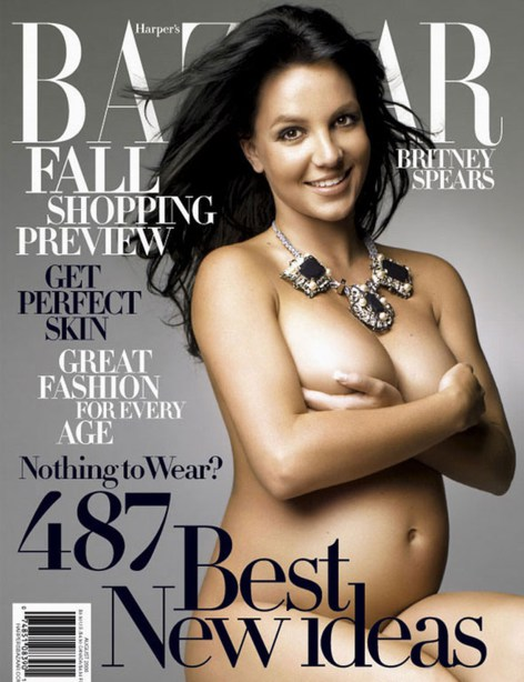 Pregnant celebrities on the cover
