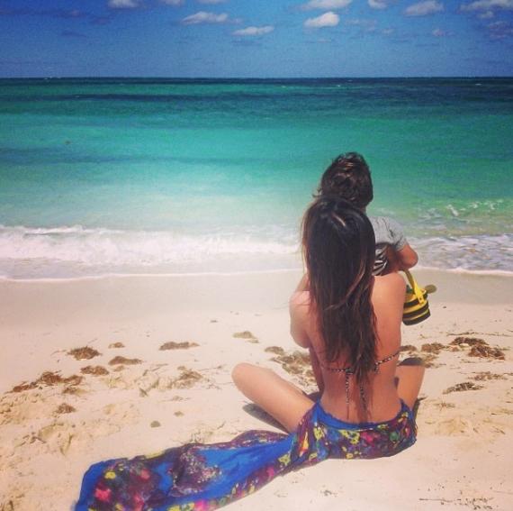 Miranda Kerr en Flynn  FOTO: Instagram @mirandakerr