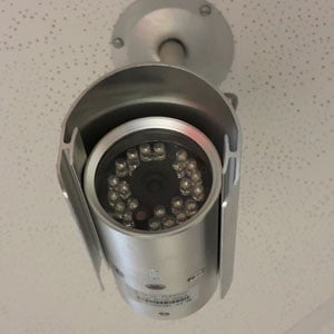 Security camera. (Duncan Alfreds, Fin24)