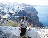 Elma de Koker in Santorini