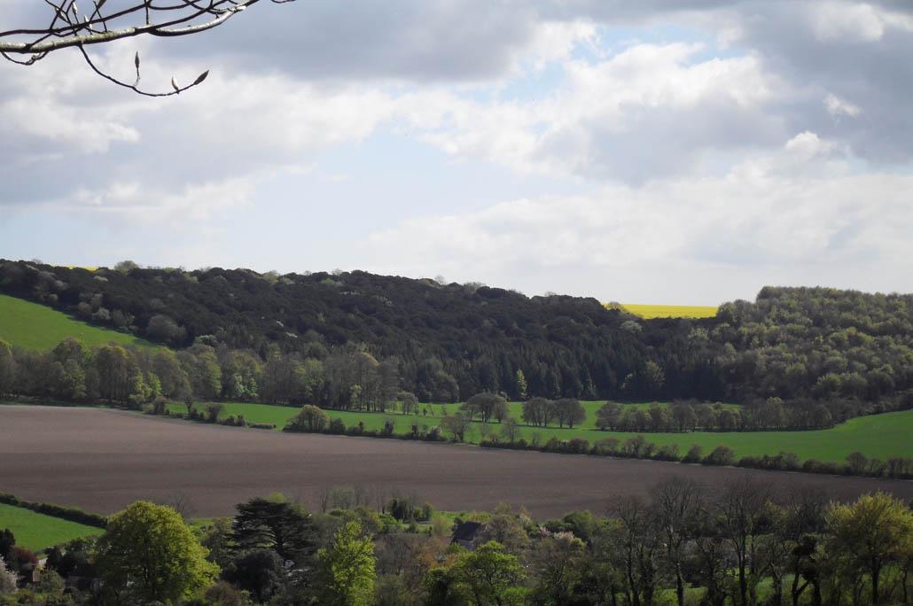 Uitsig oor die pragtige plattelandse landskap.
