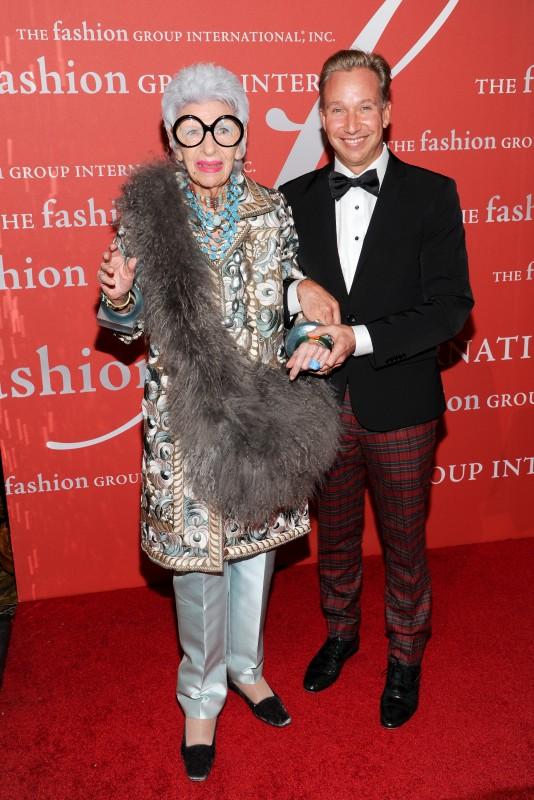 Iris Apfel by Fashion Group International's se 30ste Night Of Stars-toekenningsaand  FOTO: Evan Agostini/Invision/AP