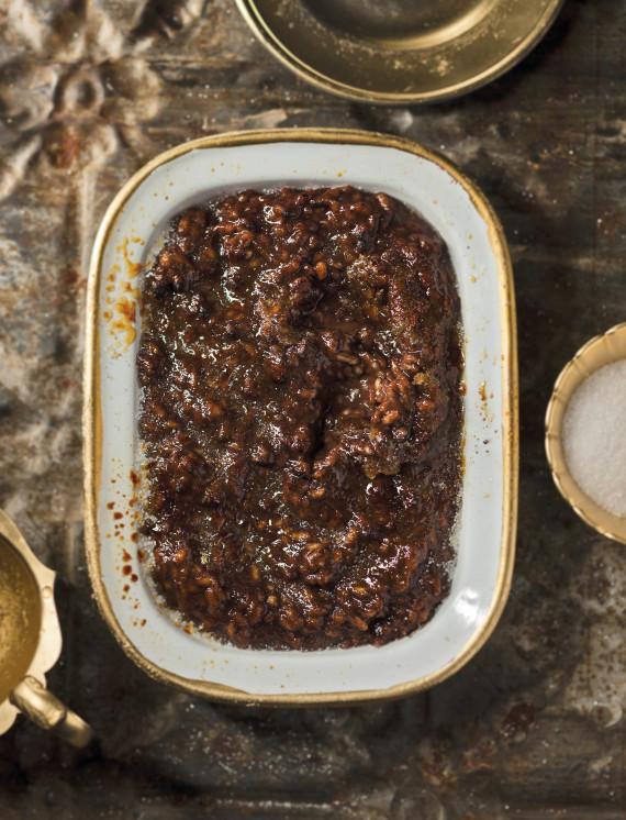 Chocolate rice pudding brûlée