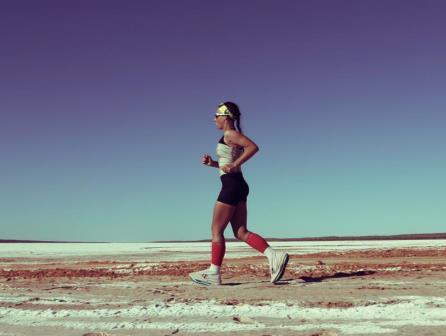 Die Australiese ultra-marathon atleet, Samantha Gash. FOTO: verskaf