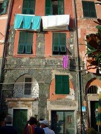 Wasgoed in Vernazza