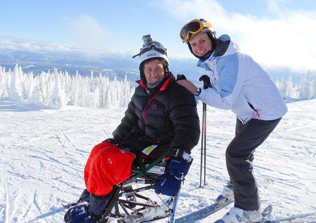 Mathys en Jané bo-op die berg