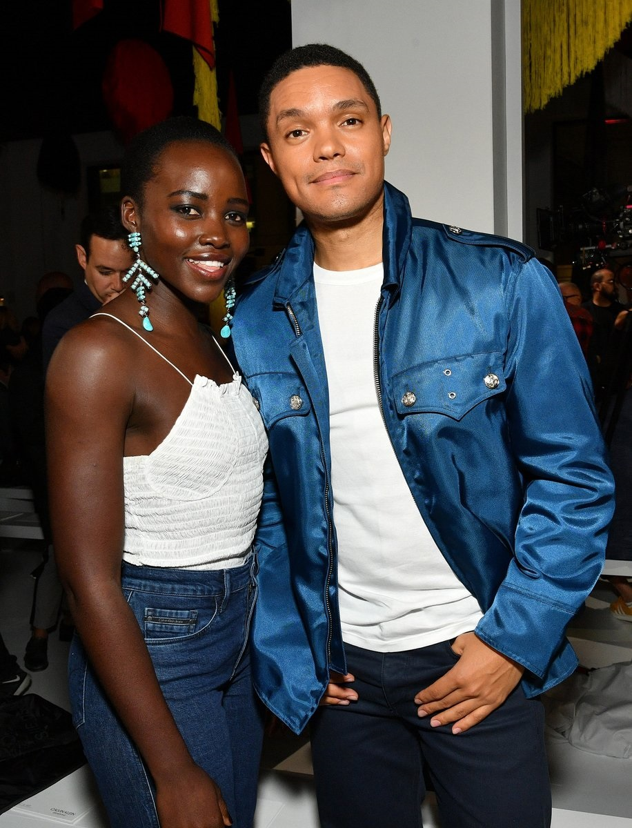 Lupita Nyong'o and Trevor Noah. Picture: Twitter