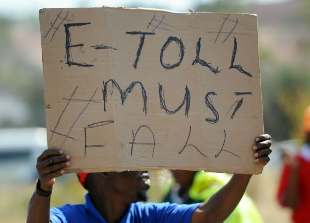 People protest against the e-tolls. (Felix Dlangamandla, Gallo Images)