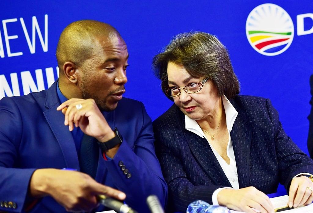 DA leader Mmusi Maimane has placed Patricia de Lille on special leave. Picture: Themba Makofane