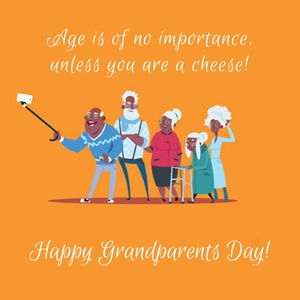 Celebrate Grandparents Day card 1 orange