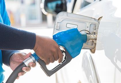 petrol pump filling up