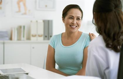 woman talking to her female doctor about incontinence