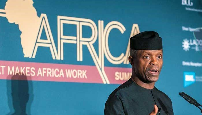 Yemi Osinbajo in FT Africa Summit in London