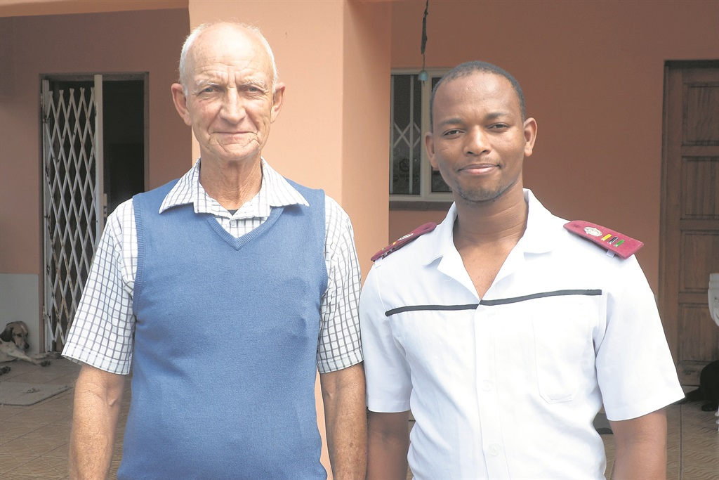 PHOTO: precious GumedeAt the care centre in Hibberdene France Swanepoel (left) and centre nurse, Anthony Madlala.