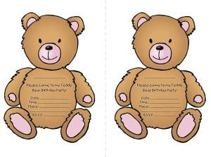 teddy bear picnic party templates parent24