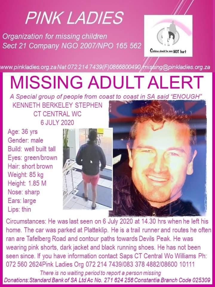 Ken Stephen was last seen on Monday 6 July (Suppli