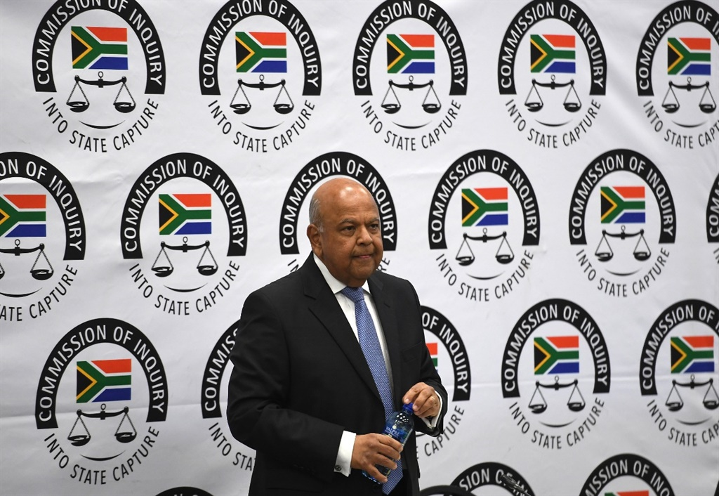 Pravin Gordhan at the Zondo commission of inquiry into state capture. (Felix Dlangamandla, Netwerk24)