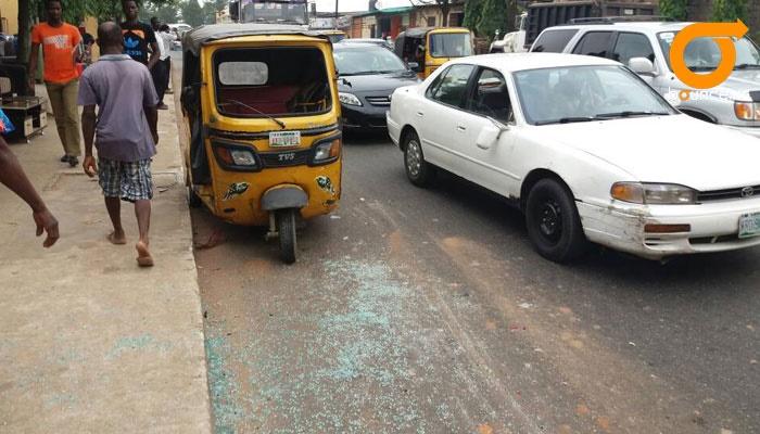 keke hit by truck in egbeda