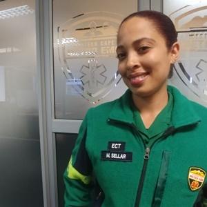 Melanie Sellar, an Emergency Care Technician