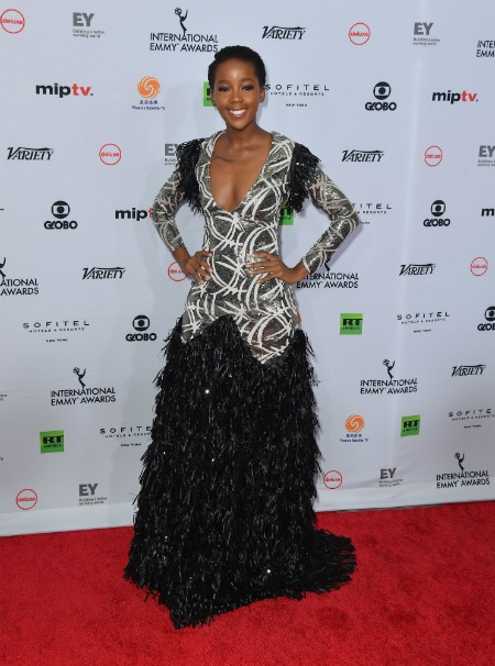 Pics Thuso Mbedu Wows In A Sequin Fringe Dress By Project