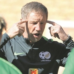 ALL IN THE MIND:  Bafana Bafana coach Stuart Baxter has called a sports psychologist to work on the players' collective mind-set. (Lefty Shivambu, Gallo Images)
