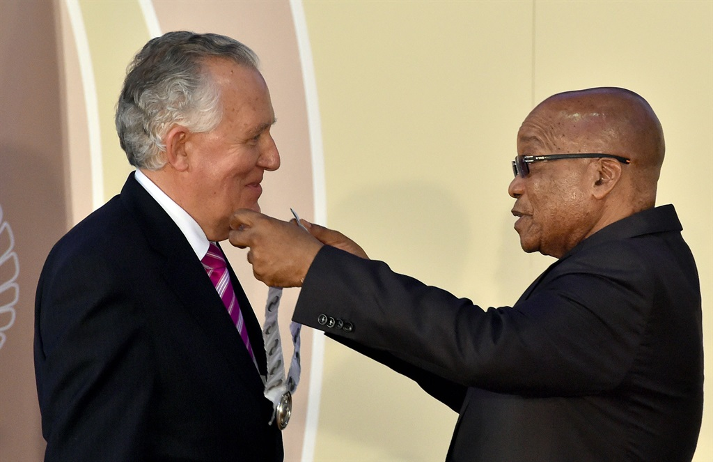 Lord Peter Hain with former president Jacob Zuma. (Supplied)