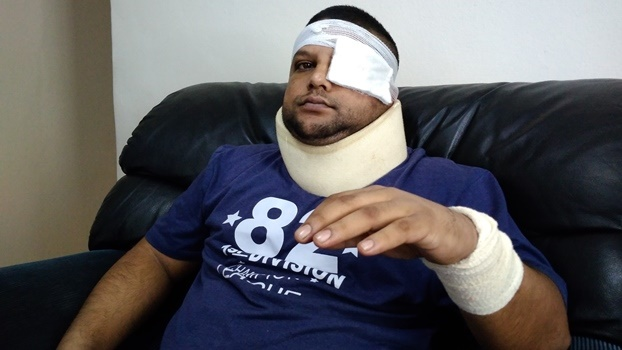 Sheldon Rajah was brutally beaten allegedly by police .
