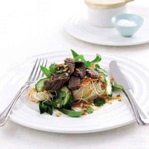 recipe, noodle, salad