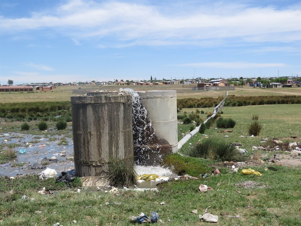 The water treatment plant in Sakhile township near Standerton spills into the Vaal River. Picture: Sizwe sama Yende
