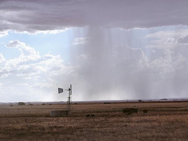 reën, droogte, wolke, windpomp,