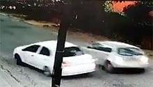 WATCH: Motorist escapes hijacking, reverses into assailants' car