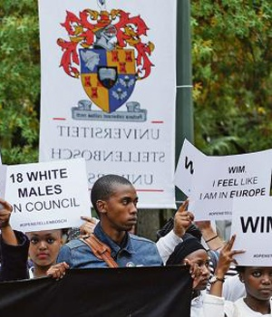 Open Stellenbosch members marching. Picture: Edrea du Toit