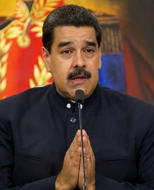Venezuela's President Nicolas Maduro speaks during a press conference at the Miraflores presidential palace, in Caracas on October 17. (Ariana Cubillos, AP)