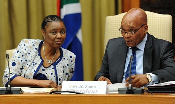 Hlengiwe Mkhize with Jacob Zuma