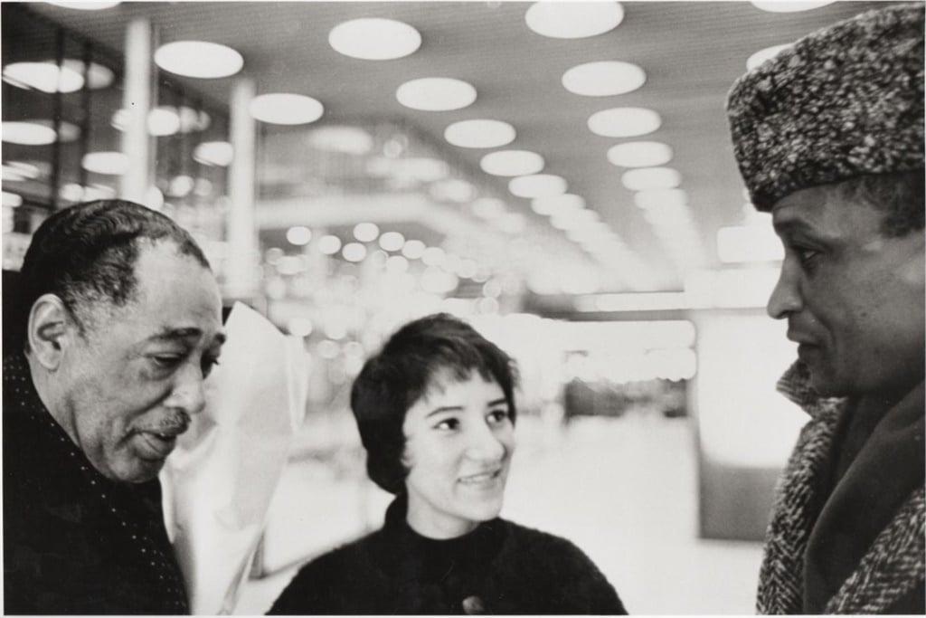 Sathima Bea Benjamin pictured here with Duke Ellington and Abdullah Ibrahim. (Photo: Courtesy of the family of Sathima Bea Benjamin)