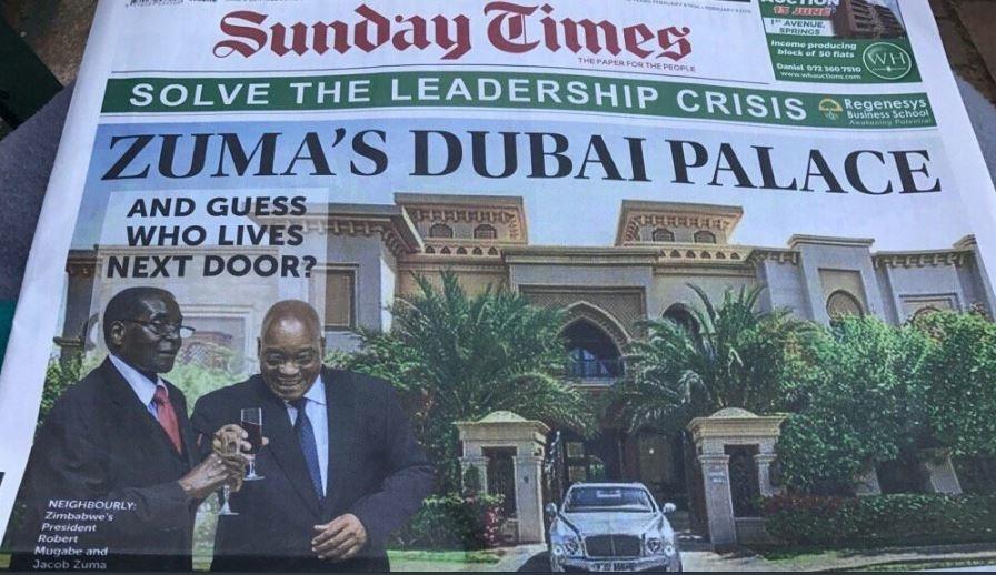 Zuma Denies Owning Any Palace In Dubai