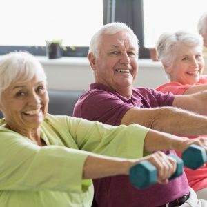 Exercise and social activities help seniors live longer.