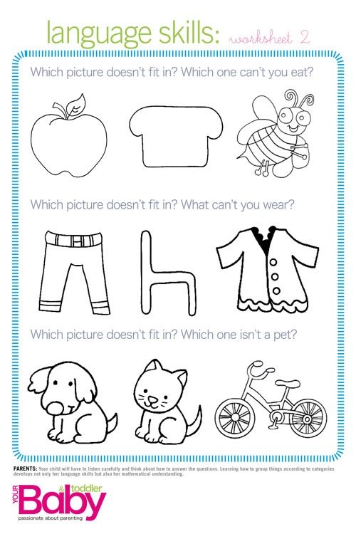 Printable: School readiness work sheets