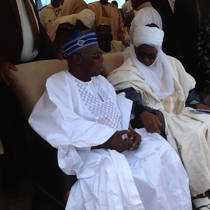 Olusegun Obasanjo at professor Ango Abdullahi 80th