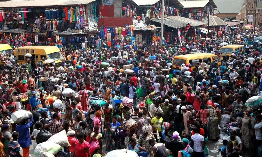Crowded Nigerian Market